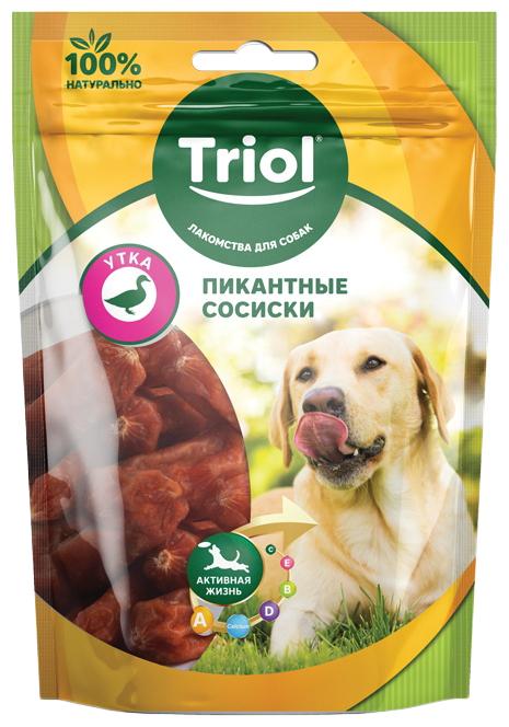 Triol - лакомство Пикантные Сосиски из утки для собак Триол