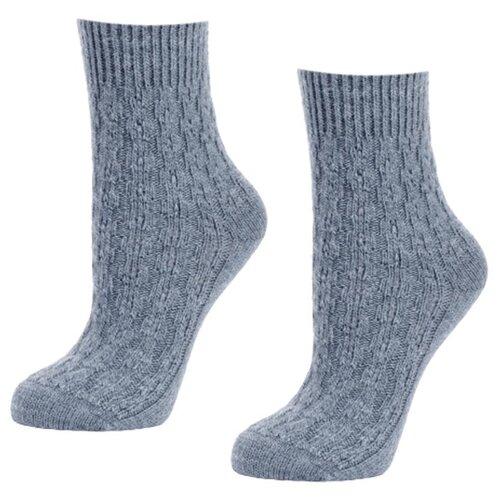 Женские серые шерстянные мягкие носки 2 пары, р-р 35-37
