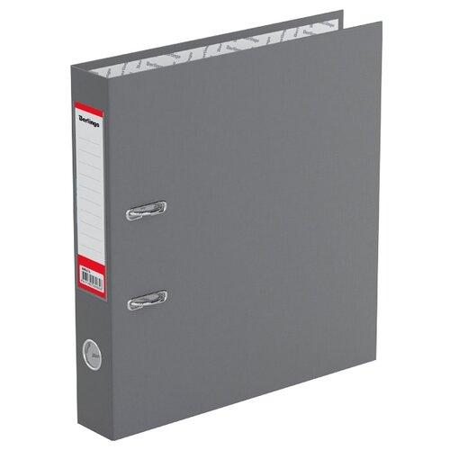 Berlingo Папка-регистратор с карманом на корешке Standard А4, бумвинил, 50 мм серый berlingo папка регистратор с карманом на корешке standard а4 бумвинил 70 мм красный