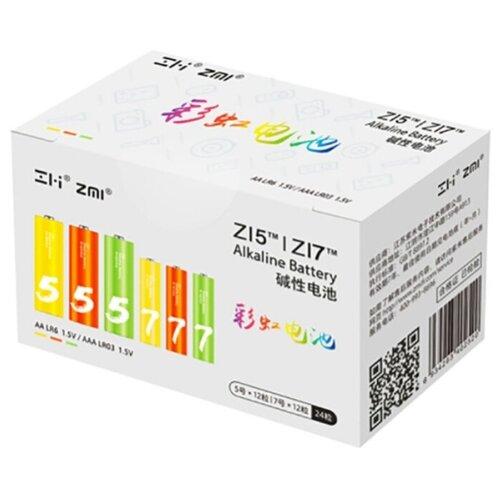 Фото - Батарейка Xiaomi Комплект Rainbow 5 AA + Rainbow 7 AAA 24 шт картон детский русский сериал комплект из 7 книг