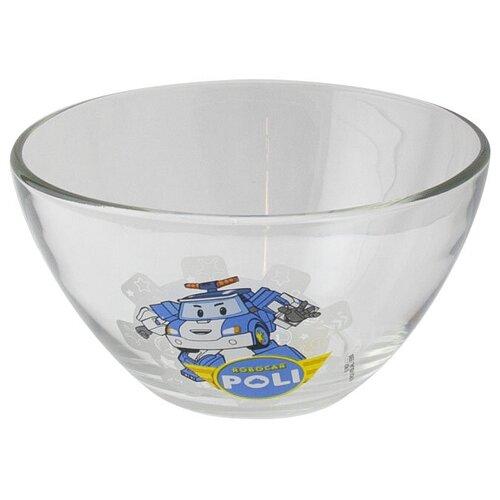 Салатник Робокар Поли Поли, матовый, 12,5 см, стекло