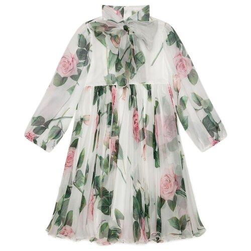 Купить Платье DOLCE & GABBANA размер 92, белый/цветочный принт, Платья и юбки