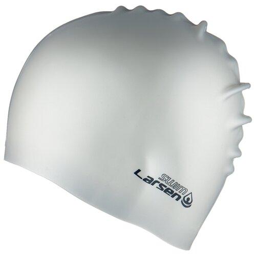Фото - Шапочка для плавания Larsen SC12 (SC601) серый очки для плавания larsen dr g101 черный