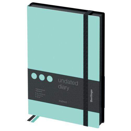 Купить Ежедневник Berlingo Instinct недатированный, искусственная кожа, А5, 136 листов, мятный, Ежедневники, записные книжки