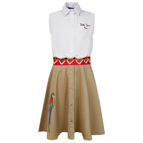 Платье Stella Jean размер 128, бежевый/белый