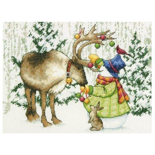 Купить Dimensions Набор для вышивания Северный олень 23 x 30 см (70-08947), Наборы для вышивания