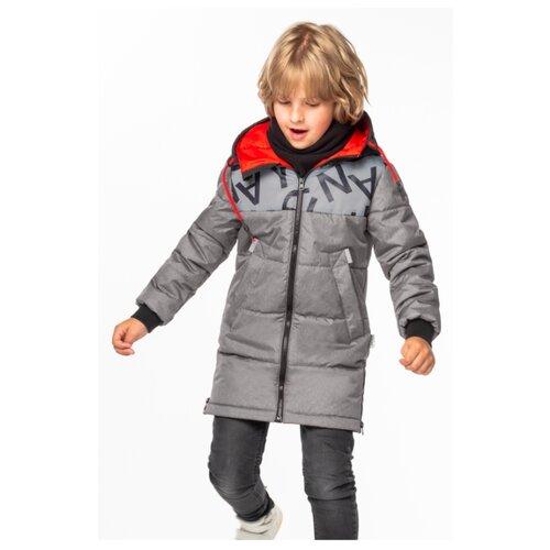 Пальто BOOM! by Orby размер 98, серый пальто boom размер 98 черный