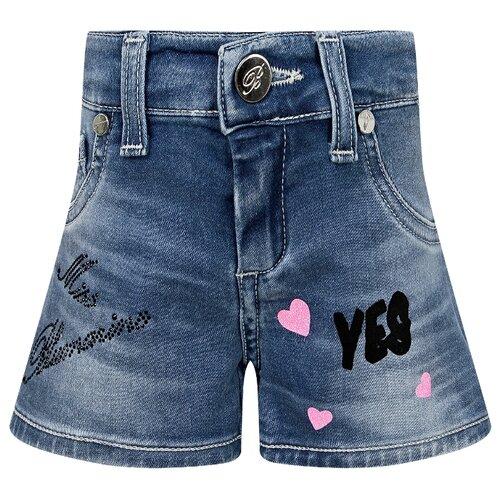 Купить Шорты Blumarine MBL0956 размер 92, голубой, Брюки и шорты