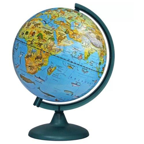 Фото - Глобус зоогеографический Глобусный мир 250 мм (10369) зеленый глобус физический глобусный мир 250 мм 10160 бирюзовый
