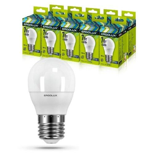 Фото - Светодиодная Лампа Ergolux LED-G45-7W-E27-6K упаковка 10 шт светодиодная лампа ergolux led g45 11w e27 6k упаковка 10 шт