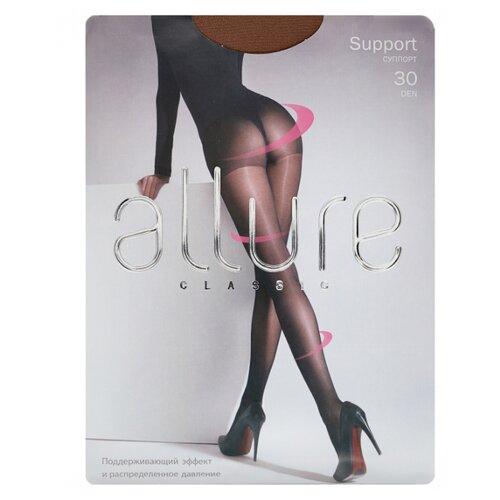 Фото - Колготки ALLURE Classic Support 30 den, размер 5, glase (золотистый) колготки allure classic support 30 den размер 5 glase золотистый