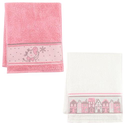 Этель набор полотенец С новым годом белый/розовый