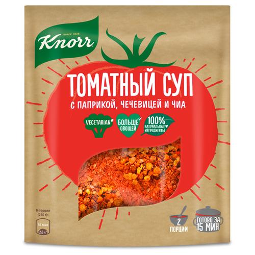 Knorr Суп томатный с паприкой, чечевицей и чиа, 48 г knorr чашка супа куриный суп с лапшой 13 г