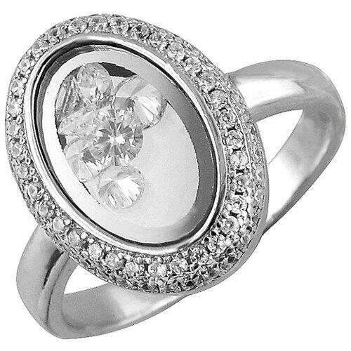 Эстет Кольцо с фианитами из серебра С33К152837, размер 17.5 ЭСТЕТ