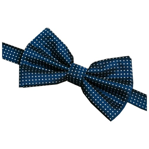 Бабочка Signature 89131 синий в белый горох