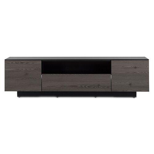 Фото - Тумба под телевизор Sonorous LB 1830, ШхГхВ: 180х45х49 см, цвет: черный/темно-коричневый тумба под телевизор sonorous neo 3 шхгхв 90х40х53 см цвет серебристый черный