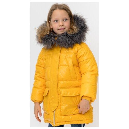 Купить Куртка Button Blue 220BBGMC4502 размер 128, желтый, Куртки и пуховики