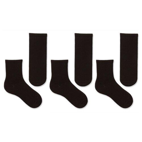 Купить Носки НАШЕ комплект 3 пары размер 18 (16-18), черный