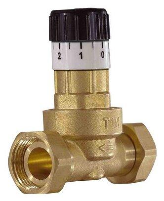 Предохранительный клапан со свободным истечением Tim BL0833 муфтовый (ВР/ВР), латунь, Ду 20 (3/4