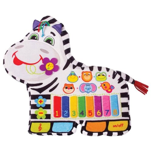 Развивающая игрушка Happy Snail Песни Фру-Фру белый/черный игрушка подвес happy snail зебра фру фру 14hs010pz