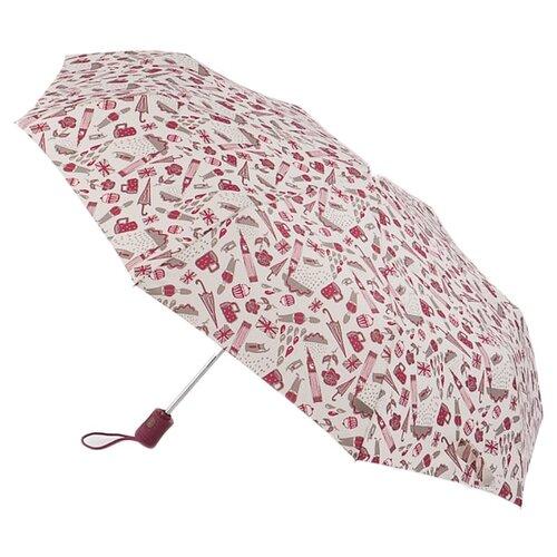 Зонт автомат FULTON NewLondon белый/красный
