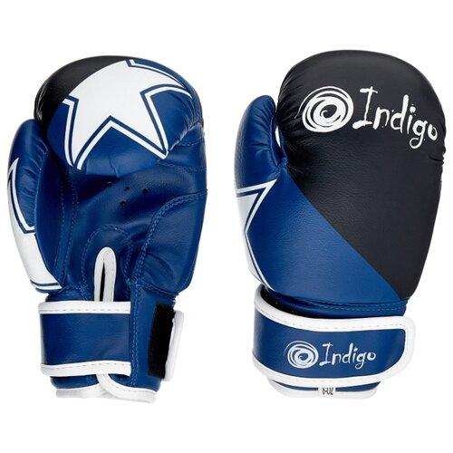 Боксерские перчатки Indigo PS-505 синий/черный 6 oz