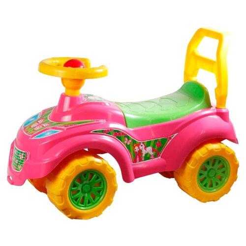 Фото - Каталка-толокар ТехноК Автомобиль для прогулок Принцесса (0793) розовый каталки технок автомобиль для прогулок т6665