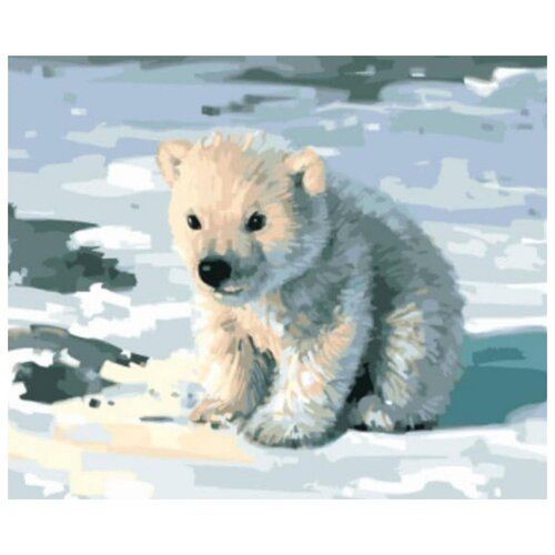 Фото - Картина по номерам Милый медвежонок, 30х40 см цветной картина по номерам белый тигр 30х40 см me1072
