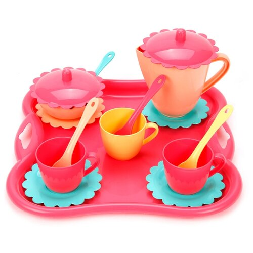 Купить Набор посуды Mary Poppins Карамель 39497 розовый/желтый/голубой, Игрушечная еда и посуда