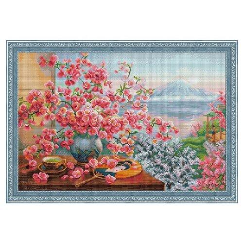 Алмазная живопись Набор алмазной вышивки Букет сакуры (АЖ-1823) 60*40 см