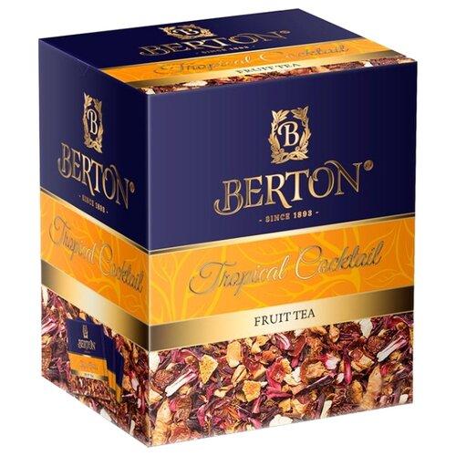 Фото - Чайный напиток фруктовый Berton Tropical Cocktail, в пирамидках, 20 шт. фруктовый чайный напиток вишневый пунш 100 г