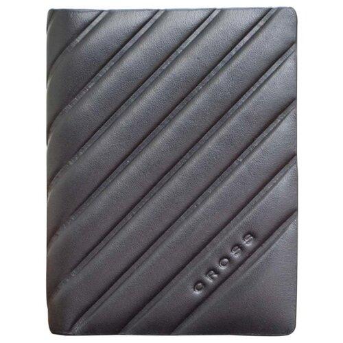 Обложка для кредитных карт Cross Grabado, кожа наппа, фактурная, чёрный, 7,5 х 1 х 10,5 см AC178387-1