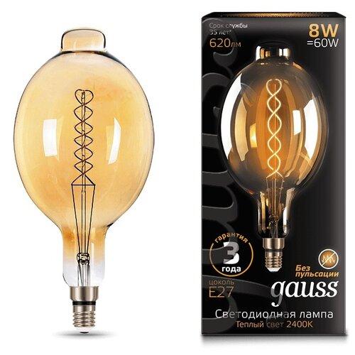 Лампа светодиодная gauss 152802008, E27, 8Вт лампа светодиодная gauss 33138 e14 c37 8вт