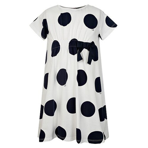Платье Il Gufo размер 92, белый/горошек/синий