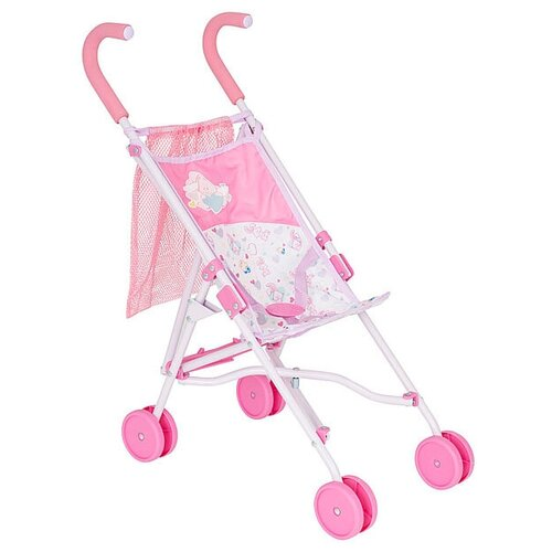 Купить Коляска для кукол Zapf Creation Baby born Коляска-трость с сеткой, 2018 розовый 1423574, Коляски для кукол