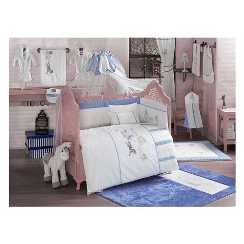 Купить Комплект из 6 предметов серии Little Farmer (Blue), Kidboo, Постельное белье и комплекты