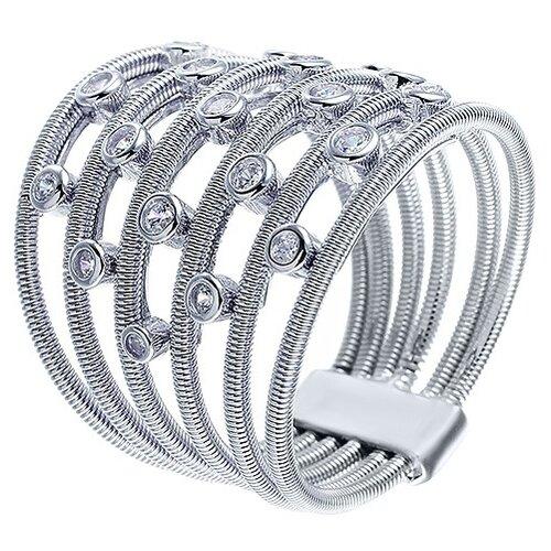 Фото - JV Серебряное кольцо с кубическим цирконием DM2230R-KO-001-WG, размер 18 jv серебряное кольцо с кубическим цирконием dm0026r ko 001 wg размер 18