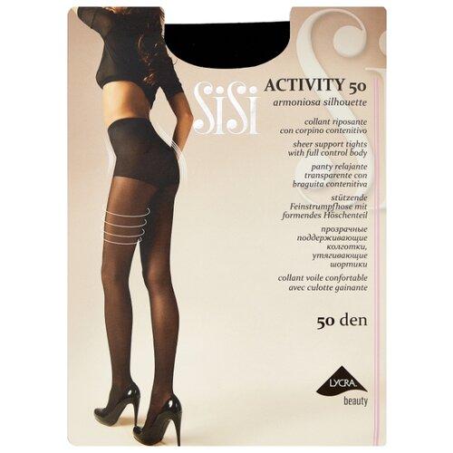 Фото - Колготки Sisi Activity 50 den, размер 3-M, nero (черный) колготки sisi activity 30 den размер 3 m naturelle бежевый