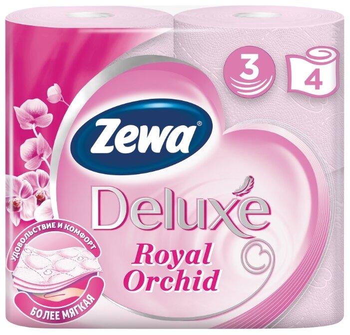 Туалетная бумага Zewa Deluxe Орхидея трёхслойная 4 рул.