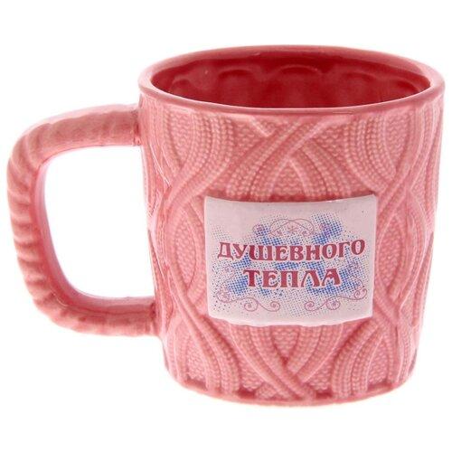 Дорого внимание Кружка Душевного тепла 350 мл розовый