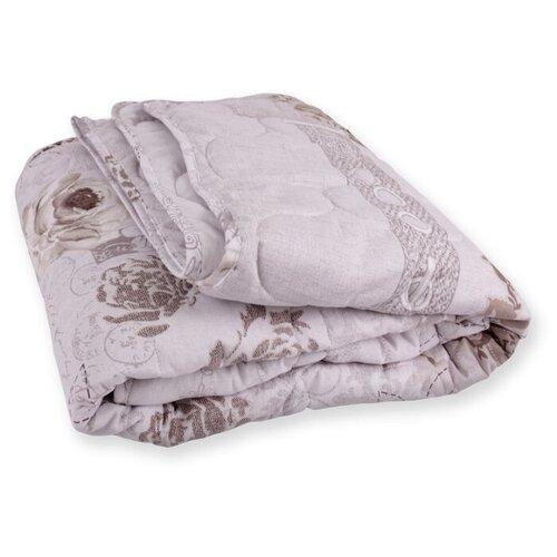 Одеяло стеганое Стильный Дом 140*205 см 150 гр/м2 Бязь 9197 В2/лён принт