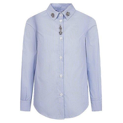 Купить Рубашка Ermanno Scervino размер 164, голубой/белый, Рубашки и блузы