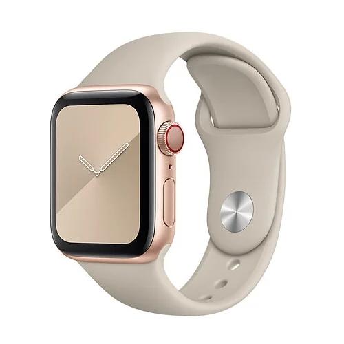 Gurdini Ремешок силиконовый для Apple Watch 38/40mm stone