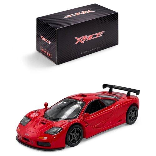 Купить Детская инерционная металлическая машинка Serinity Toys, с открывающимися дверями, модель McLaren GTR, со светом и звуком, красный, Машинки и техника