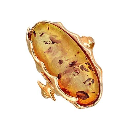 Балтийское золото Кольцо с янтарем из серебра с позолотой 51К450088П, размер 20