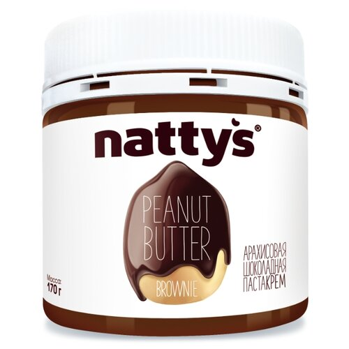 Nattys Паста арахисовая Brownie с шоколадом, 170 г