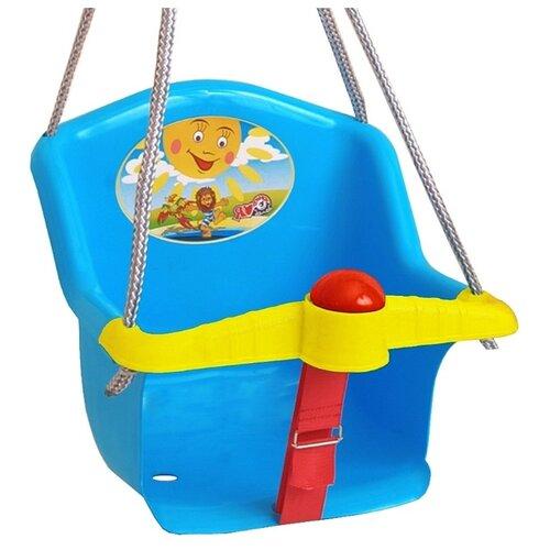 Фото - Качели Orion Бонифаций, с барьером безопасности, с клаксоном, синие качели orion toys подвесные ор757в2