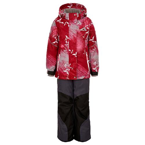 Купить Комплект с полукомбинезоном Oldos размер 92, красный, Комплекты верхней одежды