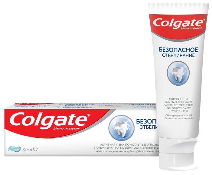 Зубная паста Colgate Безопасное Отбеливание отбеливающая