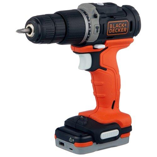 цена на Ударная аккумуляторная дрель-шуруповерт BLACK+DECKER BDCHD12S1 40 Н·м оранжевый/черный